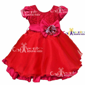 Vestido Festa Bebê De Renda Com Faixa De Cabelo De Brinde