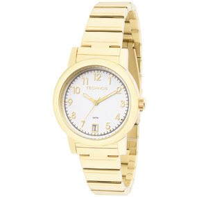 Relógio Technos 2115kpi/4k 2115kpi Aço Folhado Ouro Numeros