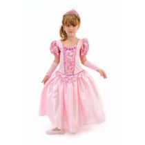 Fantasia Infantil Bela Adormecida Princesa Aurora Super Luxo