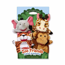 Set De Titeres De Animales De Zoológico Melissa & Doug
