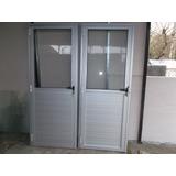 Puertas De Aluminio Gris Natural