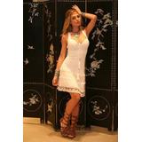 Vestido 5 Geração Branco Renda Quinta Geração Tricô