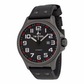 Tw Steel Reloj Hombre Twa961 Pilot Automatic Piel Negro