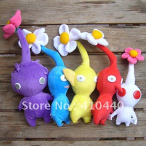 Set De 5 Peluches De Pikmin Flower Flor