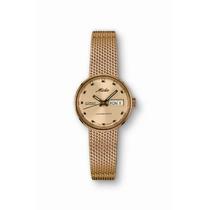 Mido M Comandante Reloj De Mujer - Dial De Oro Caja De Acer