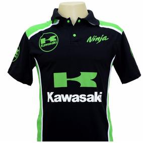 Camiseta Camisas Gola Polo Esportiva Moto Kawasaki Ninja