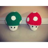 Hongos Mario Bros Amigurumis Muñeco Tejido En Crochet