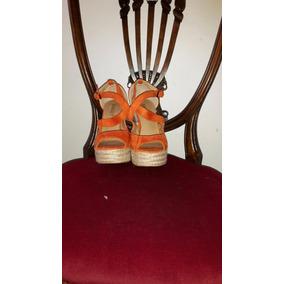 Zapatos De Platafoma Naranja Sweet Mujer 37/8
