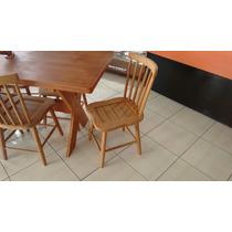 Mesa Madeira Maciça 6 Cadeiras