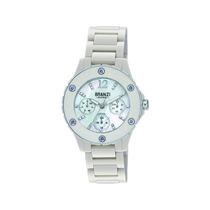 Branzi B020812 Reloj De Cuarzo Analógico Bisel Cerámica Rosa