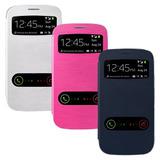 Funda Samsung S3 S4 S5 S5 Mini Galaxy Flip Cover En Caja