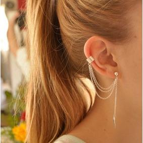 Brinco Feminino Cadeia Borla Ear Cuff Unidade