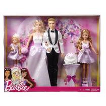 Barbie Set Casamento Ken Noivo Noiva Madrinhas Daminhas