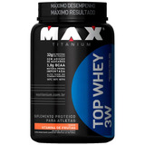 Top Whey 3w Vitamina De Frutas 900 G - Max Titanium