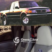 Revestimento 100% Couro Para Banco Ranger 1997 A 2004