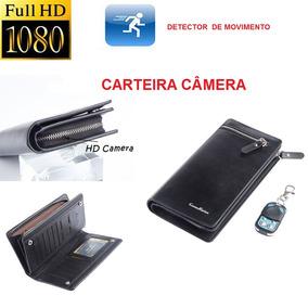Carteira Filmadora Câmera Hd Espiã Detector Bateria 15 Horas