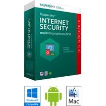 2017 3 Dispositivos Pcs - Kaspersky Internet Security 1 Ano¹