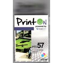 Cartucho Printon Pto57 Tricolor Compatible Con Hp 57 Sellado