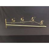 Dossel Reto 85 X 20cm Romano Folhas Solteiro E Casal Dourado