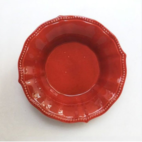 Plato Hondo Rojo 20 Cm Shabby Chic