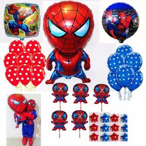 Globos Spiderman,hombre Araña,centro De Mesa,avenger Estrell