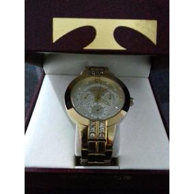 Relógio Technos Feminino Elegance Swarovski Dourado