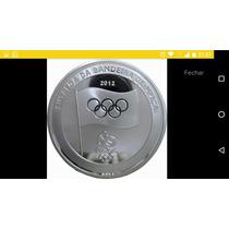 Medalha Banhada Prata Entrega Bandeira Olimpiadas Rio