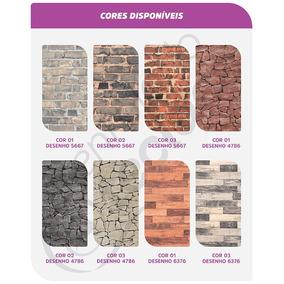Tecido Jacquard Parede Wall 10m X 1,4m Tijolo Pedra Madeira