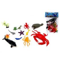 5un Kit Animal Bichos Do Mar De Pvc C/acessorios Atacado