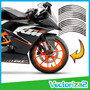 Calcomania Ktm Linea Cinta Reflectiva Rines Bicicleta Moto