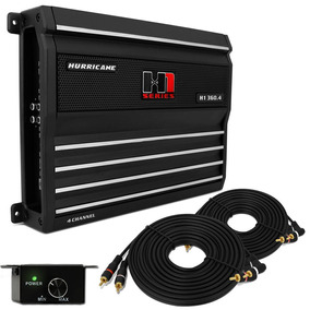 Módulo Amplificador Hurricane H1 360.4 1440w + 2 Cabos Rca