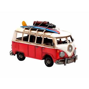 Mini Van Tipo Pan Lactal En Miniatura Roja- Lvr