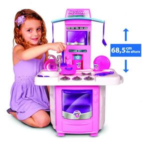 Nova Big Cozinha Infantil Completa + Kit Liquidificador