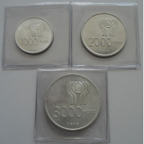 3 Monedas De Plata Mundial 1978 Cuño 1978