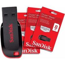 Pen Drive Sandisk Cruzer Blade 8g Original Lacrado
