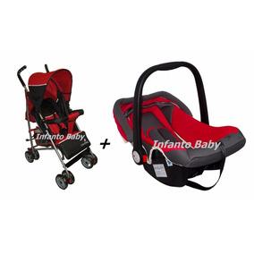 Carrinho De Bebê Berço Passeio Guarda Chuva + Bebe Conforto