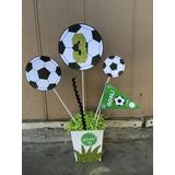 Kit Imprimible Fútbol Para Centro De Mesa