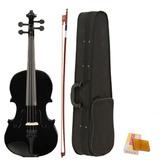 Violin 4/4 Negro Completo Estuche / Accesorios Envio Gratis