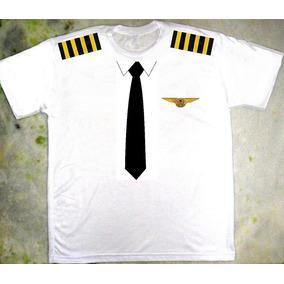 Camiseta Piloto De Avião Fantasia Criativa Carnaval