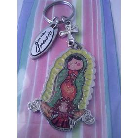 Virgencita Llavero Personalizado Recuerdito Comunión Bautizo