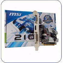 Placa De Video Nvidia Msi Gf210 1 Gb Ddr3 Pcie Hdmi 210