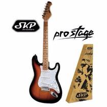 Guitarra Stratocaster Skp Colores Con Funda Acolchados