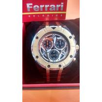 Relógio Ferrari Lançamento Nitreto Detalhes Dourado + Frete