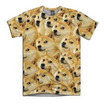 Doge Camiseta Cachorro Dog Meme Personalizada Infantil