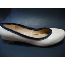 Zapatos Flats Color Hueso