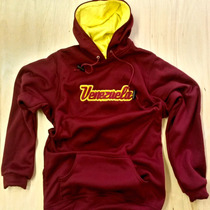 Sueter Sweater Capucha Vinotinto Venezuela Unisex Fleece P.