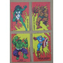 Lote De 4 Stickers Tipo Chocolate Bariloche Marvel Años 80´s