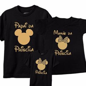 Tal Mãe Tal Pai Tal Filha(o), Mickey Minie, Kit C/ 3