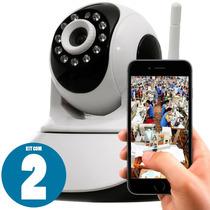 Kit 02 Câmeras Ip Wifi Com Imagem Em Hd 720p 1.3mp + Fonte