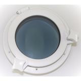 Escotilha Circular Em Abs Branco 21cm C/ Vidro Temperado Sea